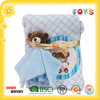 2016 Wholesale Baby Care Products Animal Head Towel and Baby blanket