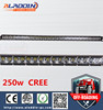 2017 New product 250w 50 inch single row off road led light bar with 3D lens