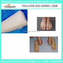High grade molding silicone rubber raw material for prosthetics foot