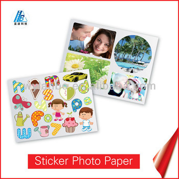 Factory Sell Directly ! Stick Photo Paper ! Supported:Dye Ink and Pigment Ink !