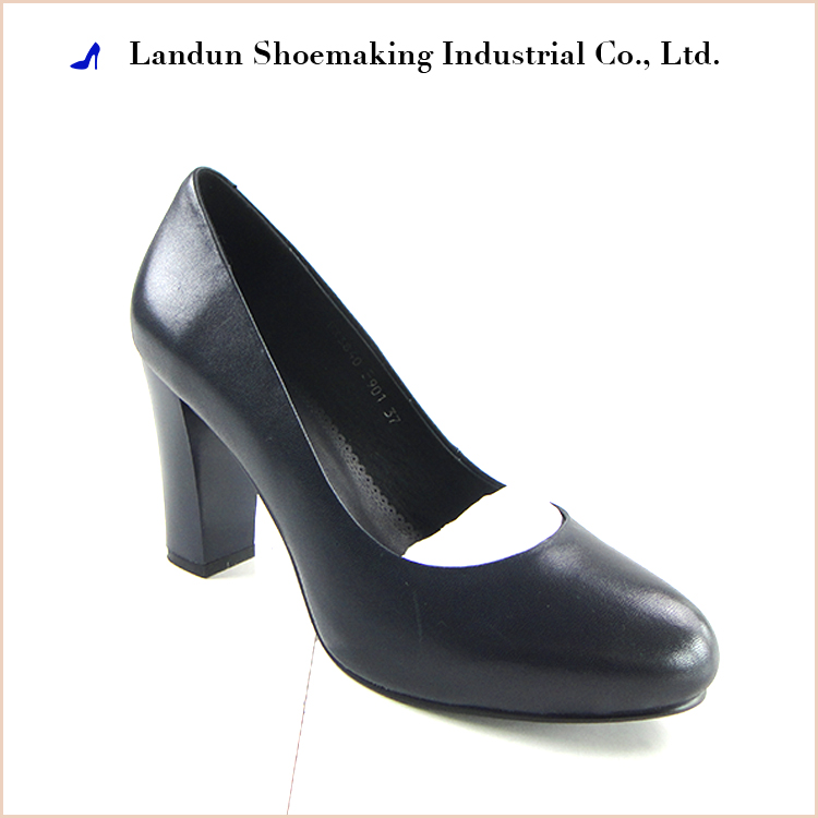 Formal office ladies dressing mid heel lady shoes pumps made in china