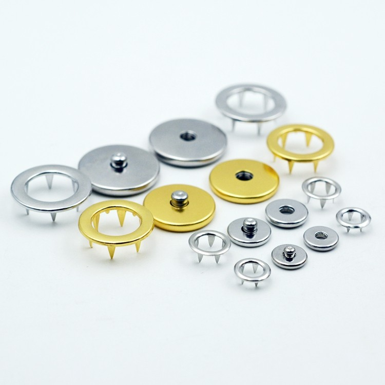 Custom new style fashion metal prong snap button for jacket
