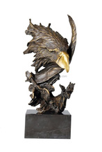 Hot Sale Personalized Handmade Color Painted Decorative large eagle statues