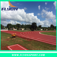 Tartan Sport Track Polyurethane Sprots Surfaces Sandwich EPDM Granules Athletic Track