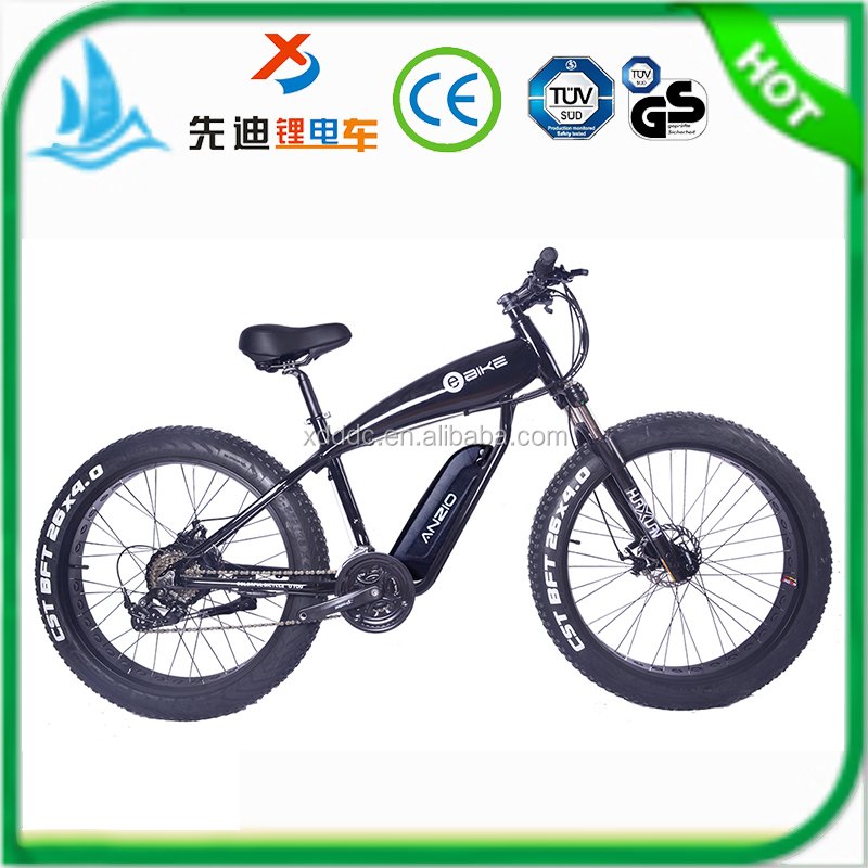 26*4inch 36 Voltage-48V 250 Watt/500W-1000W Fat Tire Mountain Beach Cruiser Engine Chopper Bike Cruiser, Exclusive Electric Bike