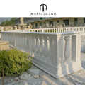 High polished hotel garden porch stone balcony railing with column design
