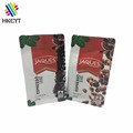 Custom logo printed 250g 454g barrier coffee packaging bag with valve and zipper