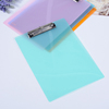 Wholesale candy color pp transparent file sheet plate writing clipboard