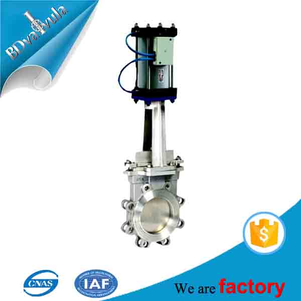 Cast iron manual driven mud knife DN100 knife gate valve