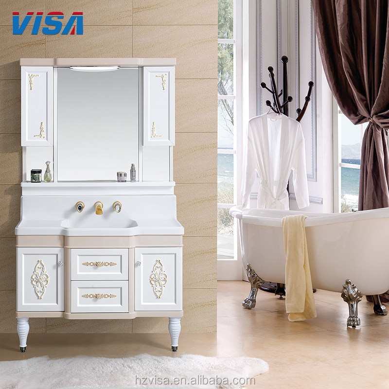 Good supplier furniture set pvc cabinet white pvc bathroom vanity modern