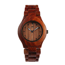 Wooden quartz custom logo design watch manufacturer