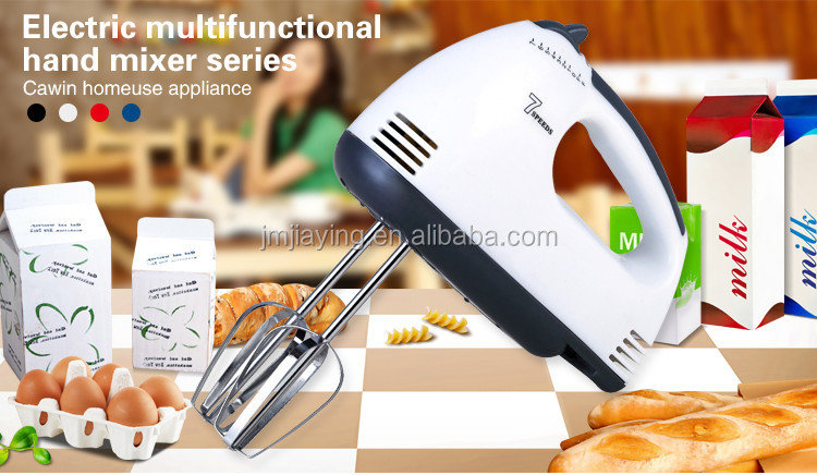 Good Price 3.4usd Household 7 Speeds Plastic Electric Hand Mixer Egg Mixer Egg Beater