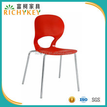 Stylish Stack Restaurant Chair With Contoured Plastic Seat
