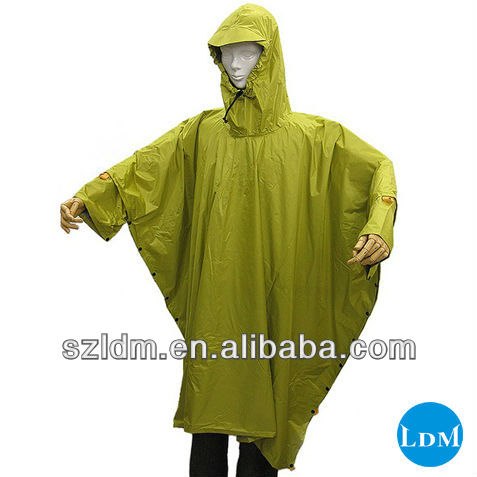 new design polyester foldable king size rain poncho