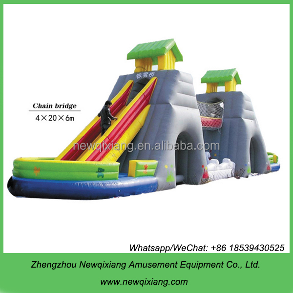 Outdoor commercial use inflatable slides for sale