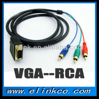 High quality VGA to 3 RCA cable