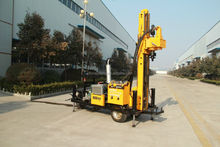 JDL-100 model trailer mounted DTH water well drilling rig