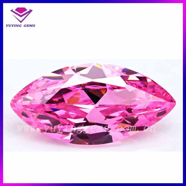 Hot sale marquise shape name pink cz gemstones
