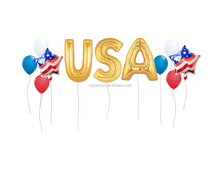 CYmylar Patriotic party decoration balloons foil USA America 1776 letter balloons