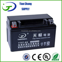 12V 7Ah YTX7-BS Maintenance Free AGM Non-spillable Battery for Motorcycle Motor Generator Balance Scooter