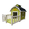 A-Frame Wooden dog kennel with fence panel wholesale