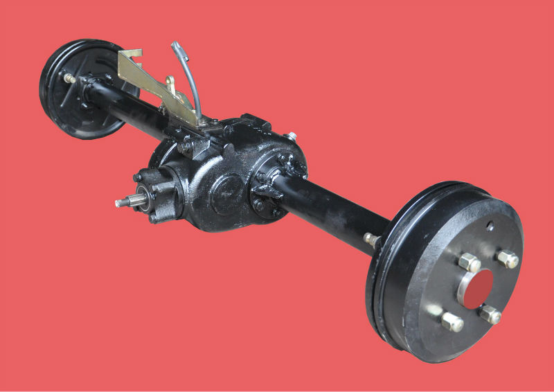 chinese manufacturer tricycle separated rear axle with hydraulic brake