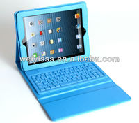 Folio Leather Case Stand With Bluetooth Keyboard for iPad 4 4th 3 3rd 2nd Blue