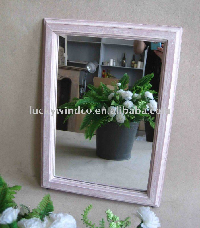 home decoration square wood framed craft mirrors