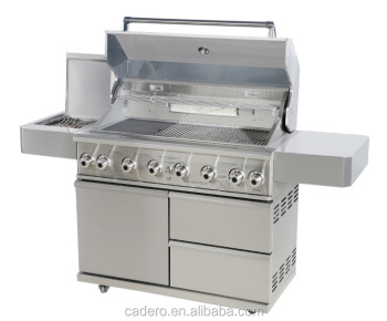 CBY 6-burners full stainless steel BBQ gas grill with special good quality