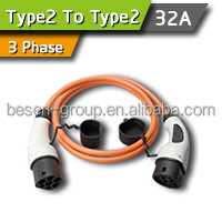 32A 3Phase Tesla Model S EV Charging Cable / Cord / Leads