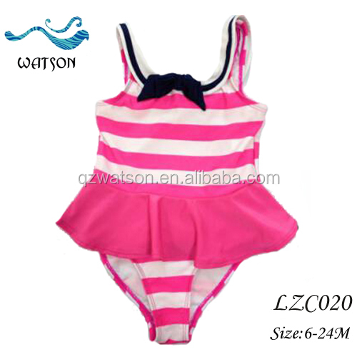 Little Girls Sailor Stripes Swimsuit