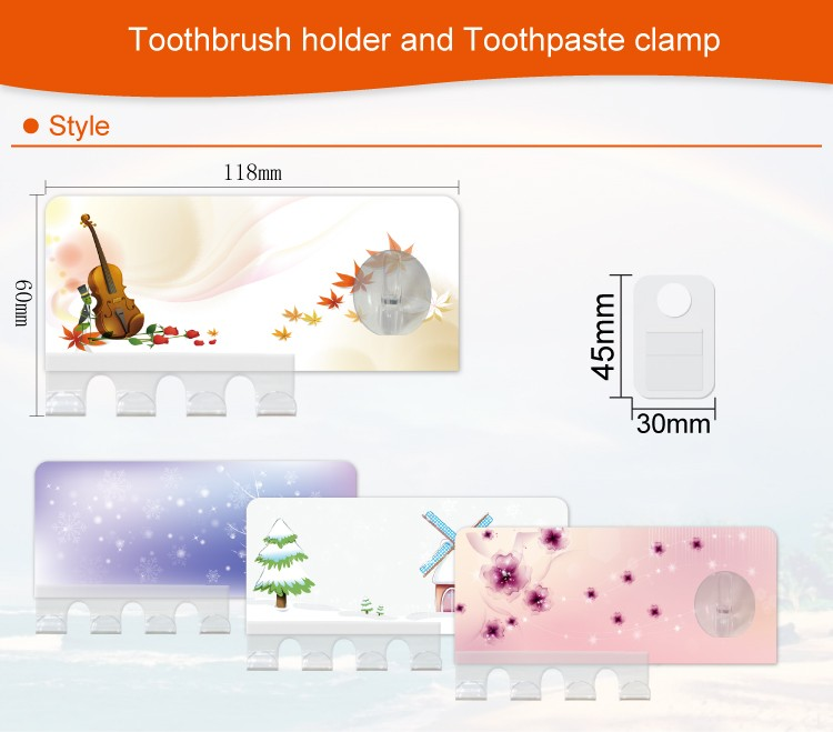 Cartoon durable toothbrush holder