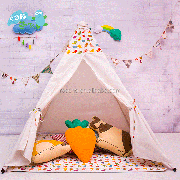 Soft Cotton Canvas Play Easy Folding Camping Tent