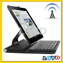 New design 360 Degrees Rotating Bluetooth 2.0 Leather Case Keyboard with Holder for iPad 4 /for New iPad (for iPad 3)
