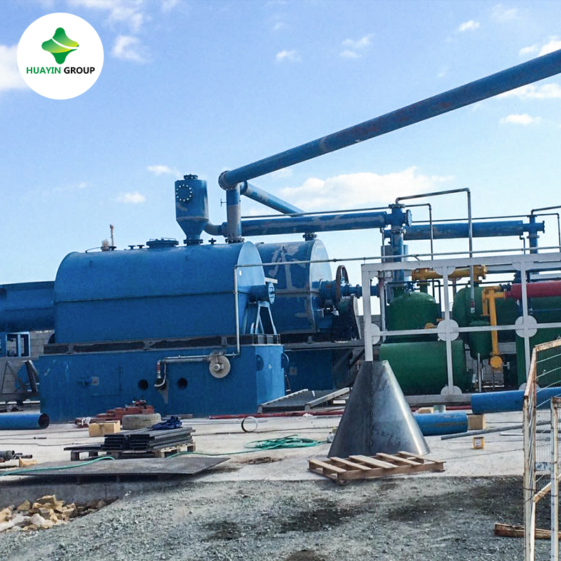Pyrolysis plant medical waste processing no pollution