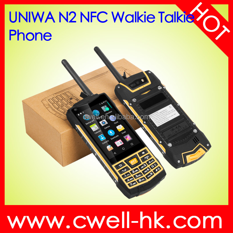 3.5 Inch Touch Screen Dual SIM Android 6.0 Analog Walkie Talkie IP68 Waterproof Rugged Android Phone with Keyboard NFC UNIWA N2