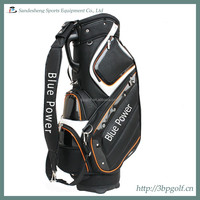 black leather new luxury golf cart bag