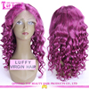 Hot sale 100% indian human purple wig for black women purple lace front wig in alibaba website