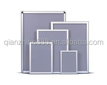 A0/A1/A2/A3/A4 round corner/mitred corner aluminum black snap frame silver poster frame