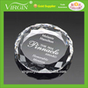 Diamond Etched Crystal Paperweight,Excellent Corporate Gift!