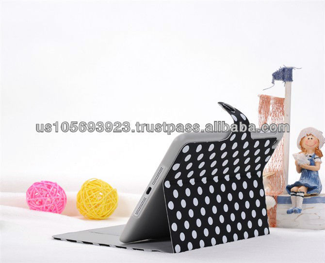 Newest dots PU leather smart cover case for Mini Ipad