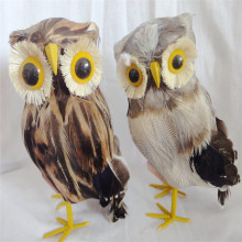 small size artificial feather owls