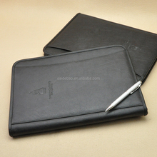 Exclusive Leather Customer Design Business File holder/Portfolio, Zippered Hand made portable organizer with book/card holder