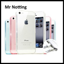 Guangzhou factory wholesale price mobile phone soft TPU cover case for iphone 5 4