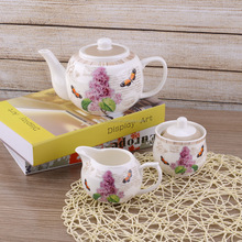 2017 Hot sale turkish ceramic teapot China supplier fine new bone china teapots wholesale