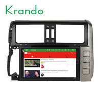 "Krando Android 6.0 8"" double din car multimedia player for toyota prado 2010 2011 2012 2013 car radio gps TV obd2 dab+ KD-TP810"