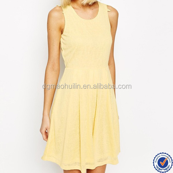 Newly women summer skater dress with lace back detail clothing wholesale distributor