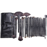 professional makeup brushes 32 PCS Makeup Brush Set Black Carry Pouch with Private Label