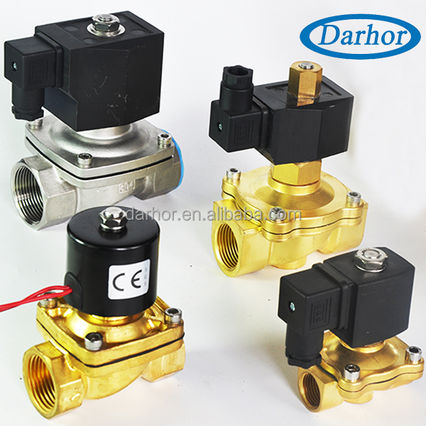 normally close open direct acting 220 volt air water solenoid valve for water