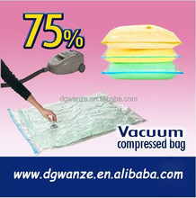 2017 Hot Sale Clear Plastic Zippered Vacuum Storage Bag for Clothing